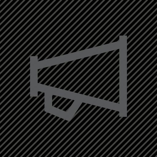 bullhorn, hailer, loud, megaphone, news icon