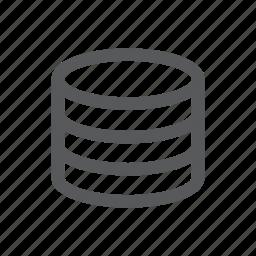 data, database, server, system icon