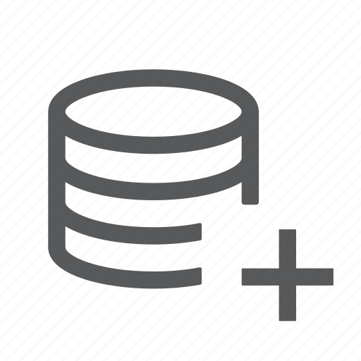 create, data, database, new, server, system icon