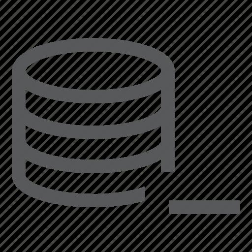 data, database, delete, remove, server, system icon