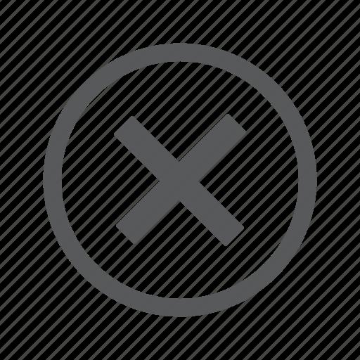 cancel, close, cross, delete, error, remove, stop icon