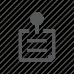 note, pin, plan icon