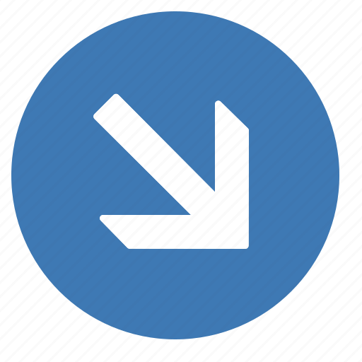 arrow, direction, down, gps, location, navigation, right icon