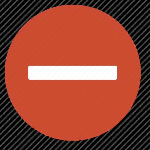 delete, forbidden, minus, red, remove, stop, unauthorized icon