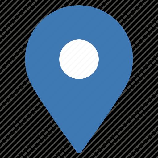 blue, gps, location, marker, navigation, pointer icon