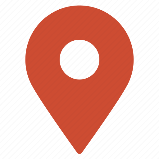 gps, location, marker, navigation, pin, pointer, red icon