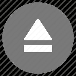 eject, media, multimedia, remove icon