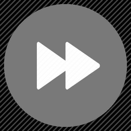 forward, media, multimedia, play icon