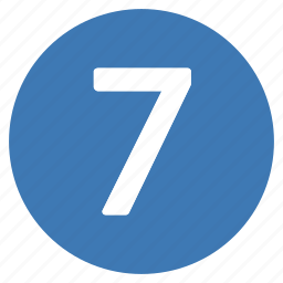 number, numbers, pro, seven icon