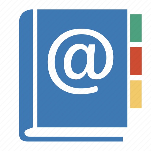 address, book, contacts, email, mail, professional icon