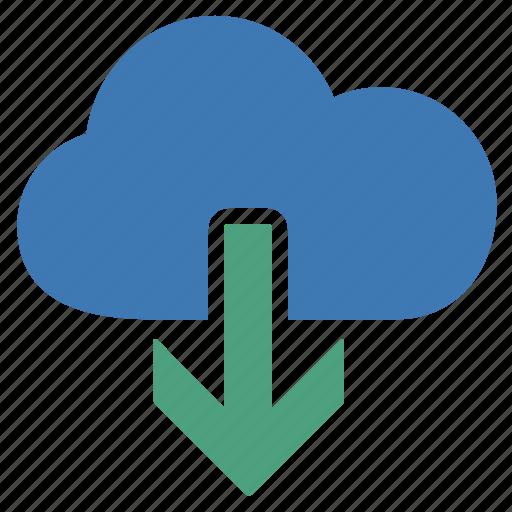 cloud, document, download, file, folder, information, storage icon