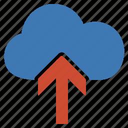 cloud, document, file, folder, information, upload icon