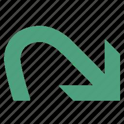 command, forward, green, redo icon