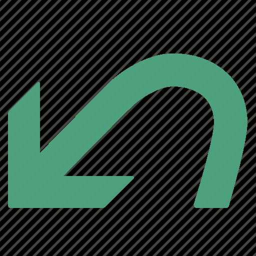 arrow, command, green, previous, undo icon
