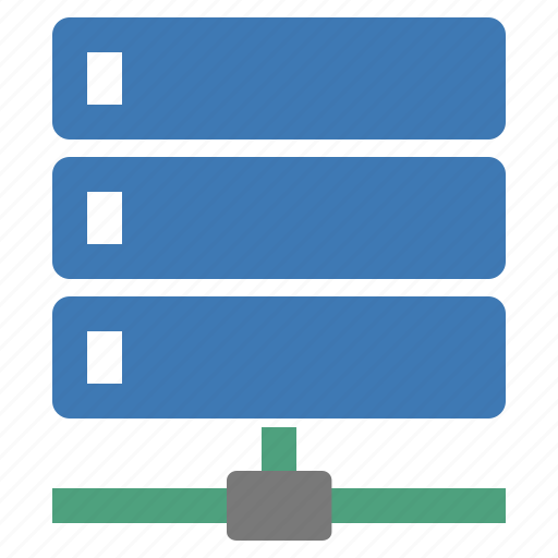 computer, connected, connection, server, servers, technology icon