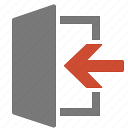 disconnect, disconnection, exit, leave, log out, quit icon