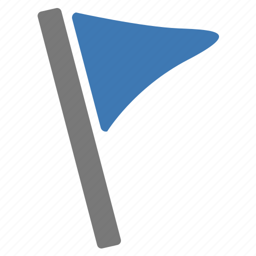 blue, flag, important, location, marker, pin, rally icon