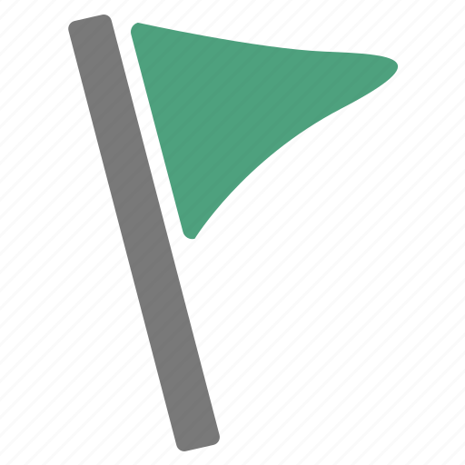 flag, green, important, location, marker, pin, rally icon
