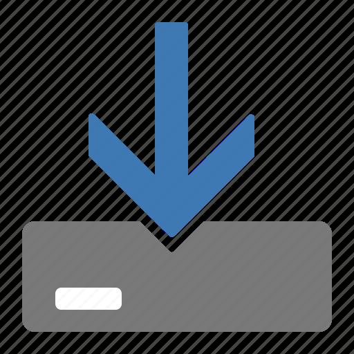 data, hard disk, information, install, storage icon