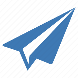 communication, interaction, message, paper, paper plane icon
