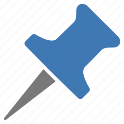 blue, important, marker, pin, point, pointer icon