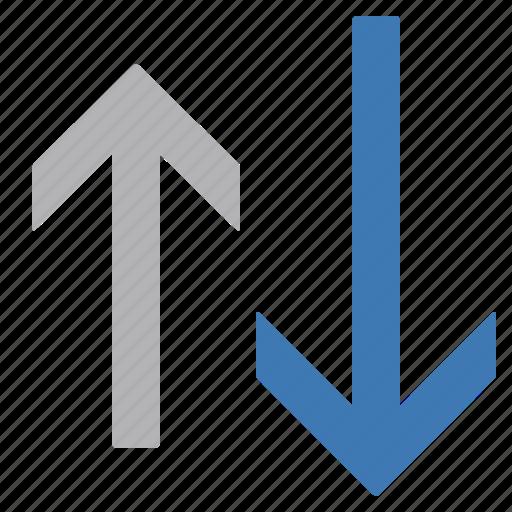 arrow, down, sort icon