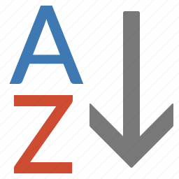 a to z, alphabet, sort, text icon
