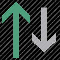 arrow, sort, up icon