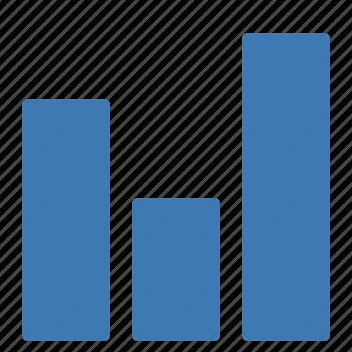 analytics, charts, columns, evolution, graphics, statistics, stats icon