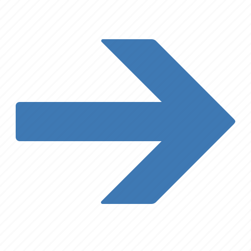 arrow, direction, gps, location, map, navigation, right icon