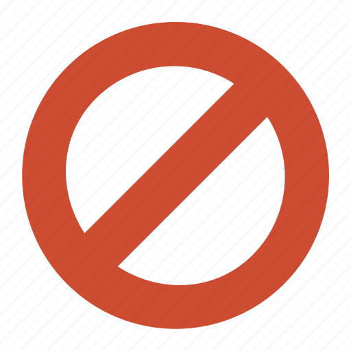 ban, forbidden, impossible, prohibited, restricted icon