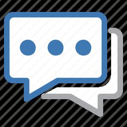 bubble, chat, conversation, dialogue, discuss, discussion, talk icon