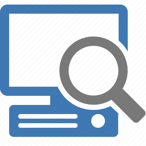 browse, computer, find, glass, look for, magnifying, search icon