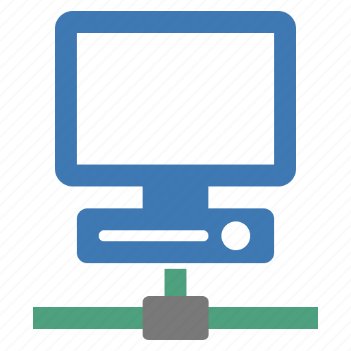 computer, connected, connection, device, display, network, screen icon