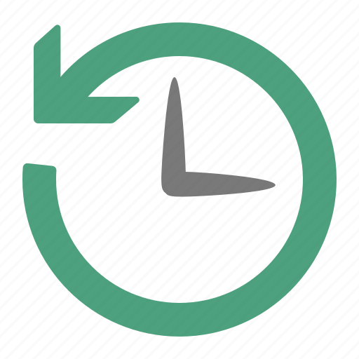 back, clock, historic, history, previous, time icon