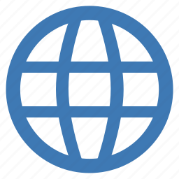 blue, connected, earth, internet, planet, world, worldwide icon