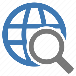 browse, find, glass, internet, look for, magnifying, search icon