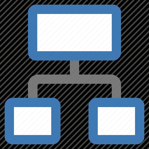 architecture, diagram, hierarchy, organigram, organization, structure icon