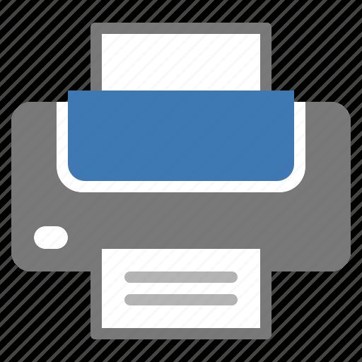 bluetooth, device, print, printer, technology, wireless icon
