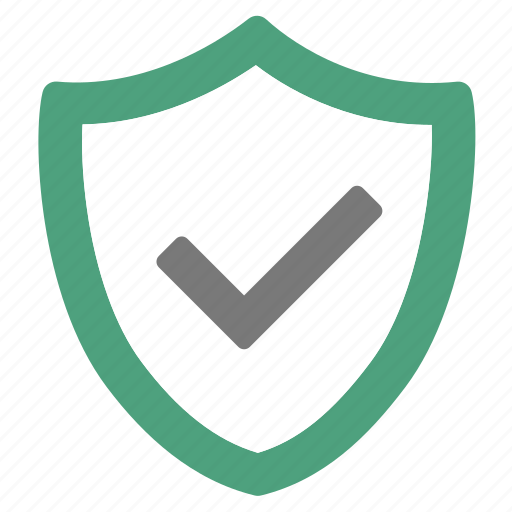 checked, ok, protected, protection, safety, secure, secured icon