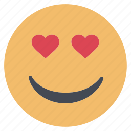 emoji, emoticon, emotion, expression, face, love, smiley icon