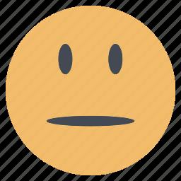 emoji, emoticon, emotion, expression, face, neutral, smiley icon