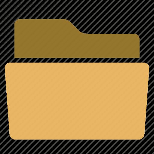 files, folder, inside, open, put icon