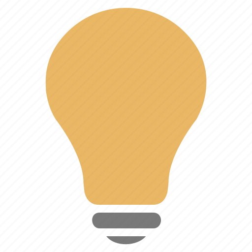 energy, idea, lamp, light, light bulb, on, power icon