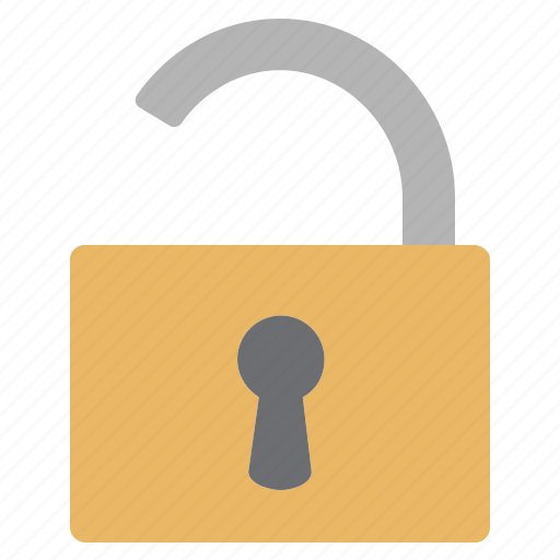 access, open, opened, padlock icon