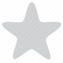 empty, grayed, star, unsatisfied icon