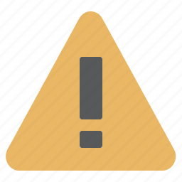 attention, caution, danger, exclamation, problem, warning icon