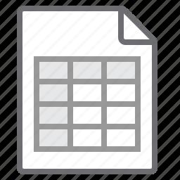 document, spreadsheet icon