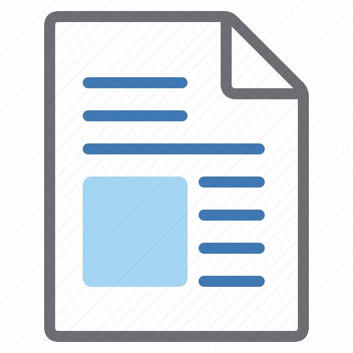 document, picture, text icon