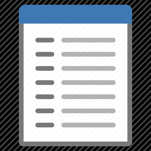 list, tasks, to do icon